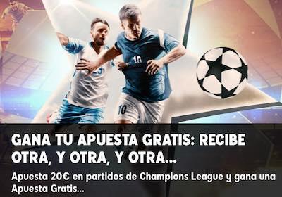 Promoción de apuestas gratis a la Champions League 2020 en 888sport