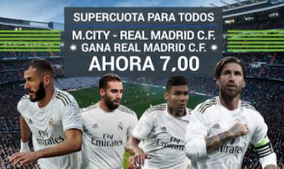 Codere Apuestas: Supercuota doble al al Manchester City vs Real Madrid