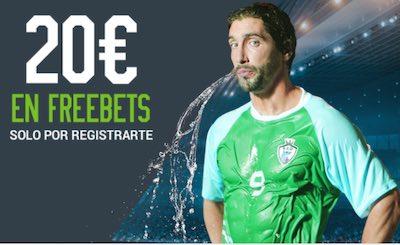 Promoción de Codere: 20€ de apuestas gratis en freebets