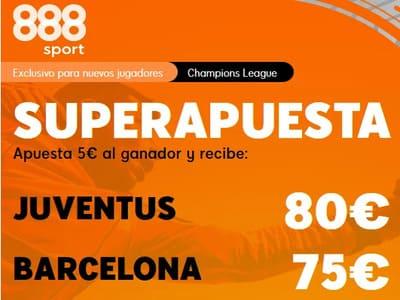 Superapuesta de 888Sport en las cuotas del Juventus Barcelona