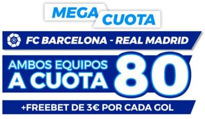 Las mejores cuotas en el Barcelona-Real Madrid con Pastón