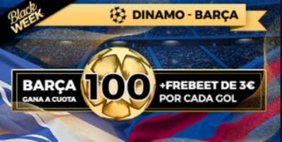 apuestas Dinamo Barcelona con cuota a 100