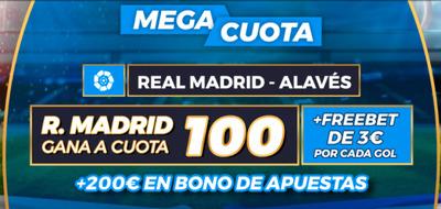 Las mejores cuotas en el Real Madrid-Alaves con Pastón.es