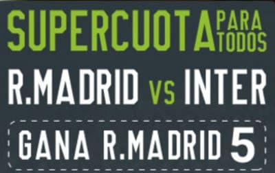Super Cuotas Real Madrid Inter a la victoria vikinga