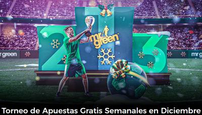 Participa en el torneo de Mr Green y consigue apuestas gratis todas las semanas de diciembre