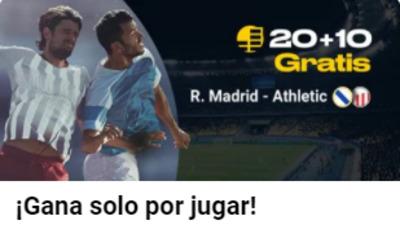 Tus apuestas en el Real Madrid-Athletic de Bilbao llevan freebet