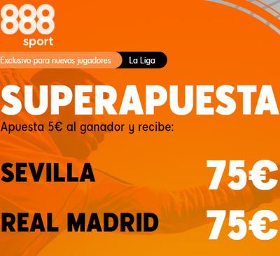 ¡Las mejores apuestas en el Sevilla-Real Madrid con 888sport!
