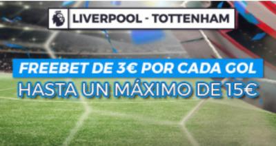 Haz tus apuestas del Liverpool Totttenham con Pastón.es