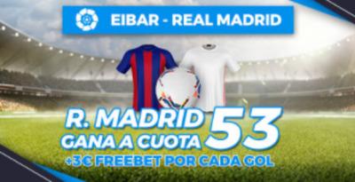 La mejor cuota en el Eibar-Real Madrid en Pastón.es