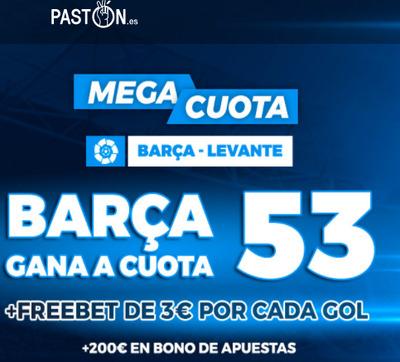 Tus apuestas en el Barça-Levante tienen Megacuota
