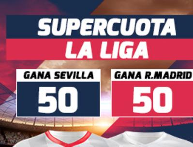 Juega las mejores cuotas en el Sevilla-Real Madrid con Betfred