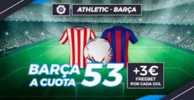 Consigue las mejores cuotas en el Athletic Bilbao-Barcelona con Pastón.es