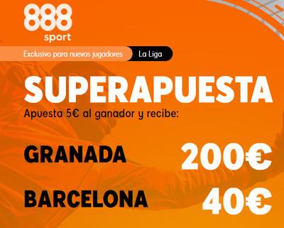 Haz tus Super Apuesta en el Granada-Barcelona con 888sport