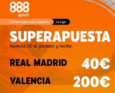 Juega tu Superapuesta en el Real Madrid-Valencia con la mejor cuota del mercado