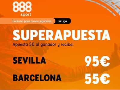 Juega tus Super Apuestas del Sevilla Barça con 888sport