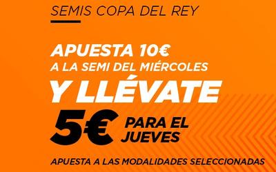 Haz tus apuestas en el Barcelona Sevilla de Copa y gana 5 euros para la semi del miércoles