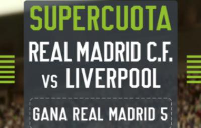 Apuesta con la mejor cuota en el Real Madrid Liverpool