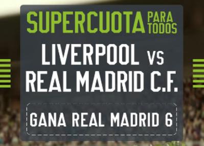 La mejor cuota del Liverpool-Real Madrid por la victoria vikinga está en Codere