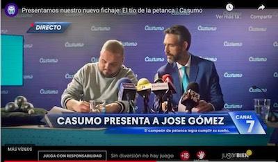 Casumo ficha a Jose Gomez, de la petanca no se puede vivir
