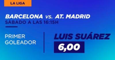 Cuotas de apuestas en Kirolbet al Barcelona vs Atletico: Suarez primer goleador