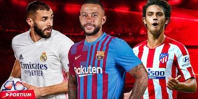 Apuestas y cuotas en Sportium, patrocinador de La Liga Santander